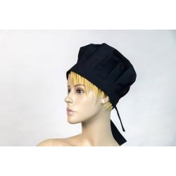 Καπέλο μάγειρα γυναικείο μαύρο