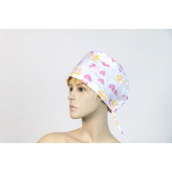 Καπέλο χειρουργείου λευκό love