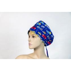 Καπέλο χειρουργείου μπλε cars
