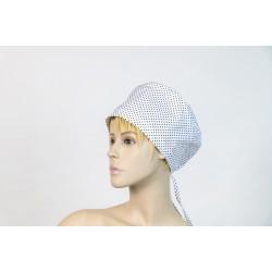 Καπέλο χειρουργείου λευκό πουά